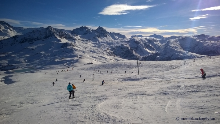 Beautiful ski day at Les Contamines!
