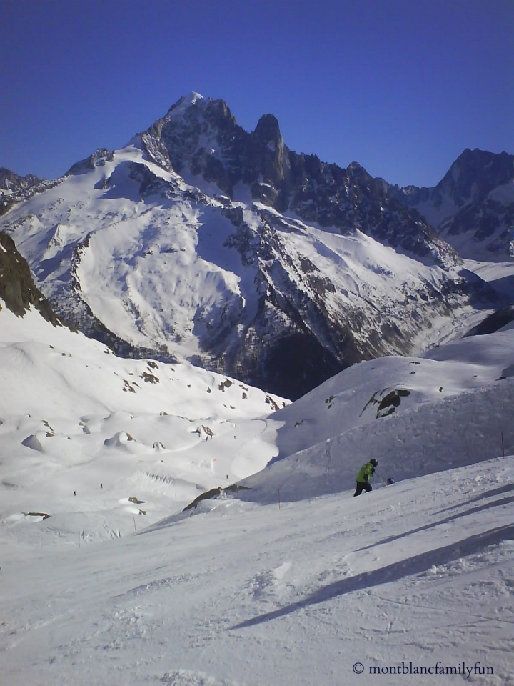 A beautiful day skiing at Le Tour