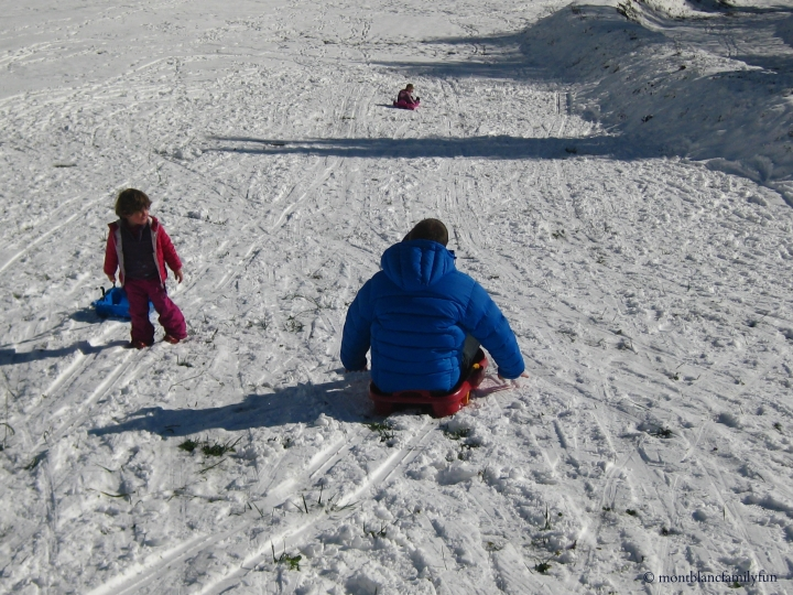 Sledging fun at Plaine-Joux
