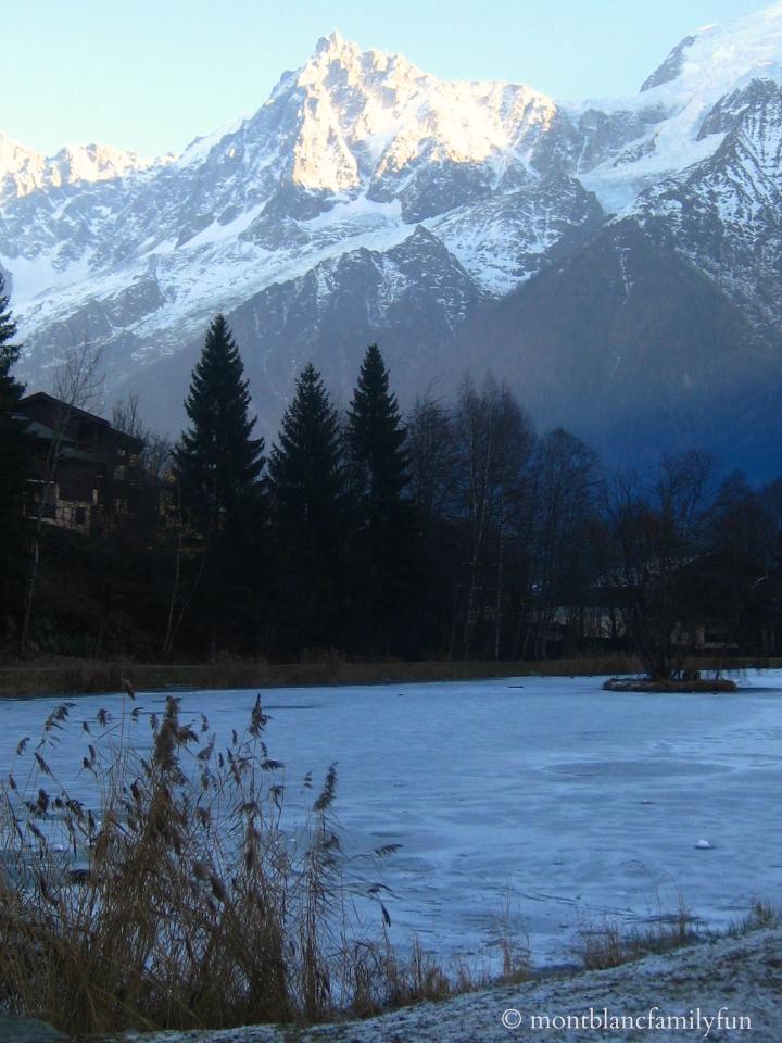 Les Chavants lake in December