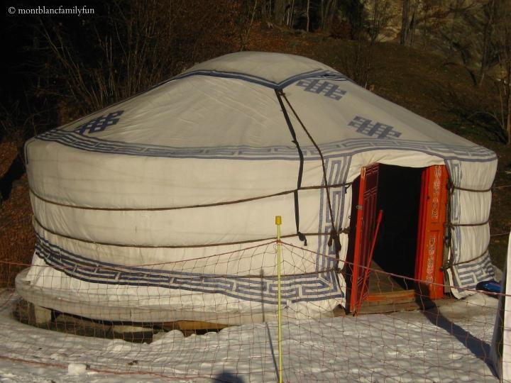 The yurt at the Piou Piou, Les Chavants