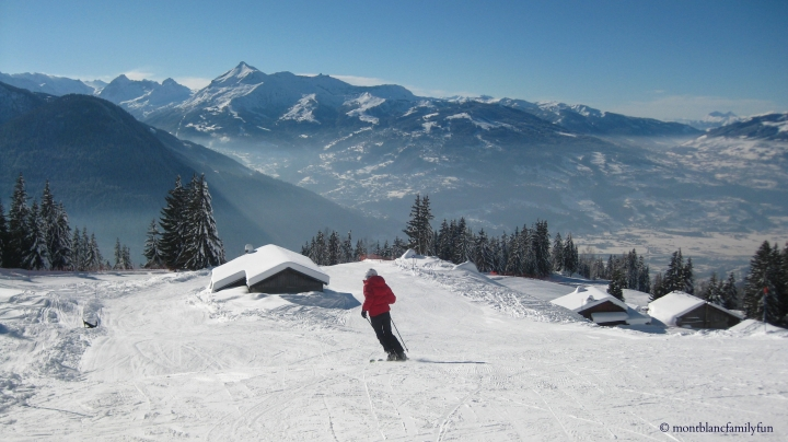 Skiing at Plaine Joux