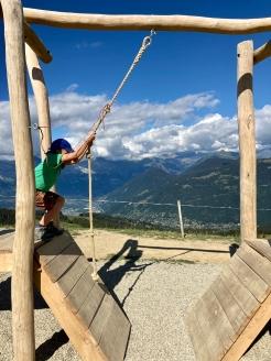 Parcours Ninja Mont d'Arbois © montblancfamilyfun.com