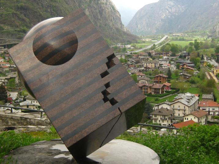 Modern art sculptures at the Forte di Bard © montblancfamilyfun.com