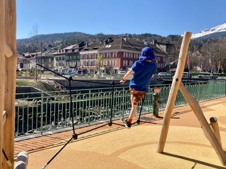 The NEW aire de jeux des quais, Sallanches © montblancfamilyfun.com