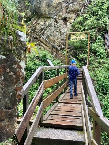 Les Gorges de la Diosaz - crossing the Pont de Barme-Rousse © montblancfamilyfun.com
