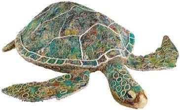 Merad Turtle from Underdown Cay by Centre d'Art d'Erub Australie © J. Watts MEG