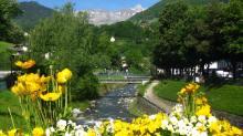 The Sallanche river in Sallanches © montblancfamilyfun
