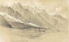 """""""Chamonix"""" (1857) by Gabriel Loppé (1825-1913) / Musée Alpin © Collection Musée Alpin de Chamonix"""