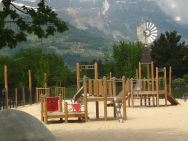 Lac de Passy - sand playground © montblancfamilyfun.com