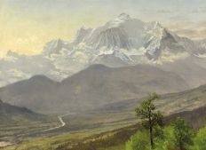 """ Mont-Blanc "" (1895) by Albert Bierstadt (1830 - 1902) © Wikipedia Commons"