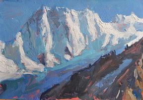 """ Grandes Jorasses "" by James Hart Dyke (b.1966) © John Mitchell Fine Paintings"