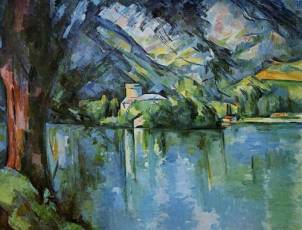 """Le Lac d'Annecy"" (1896) by Paul Cézanne (1839-1906) / London Courtauld Institute Galleries © www.impressionism-art.org"