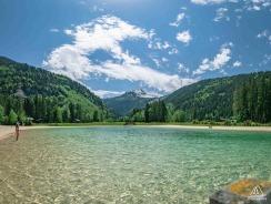 Lac de Baignad, Parc de Loisirs du Pontet © Les Contamines-Montjoie