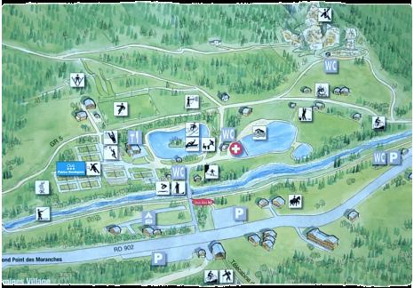 Plan du Parc de Loisirs du Pontet © Les Contamines-Montjoie