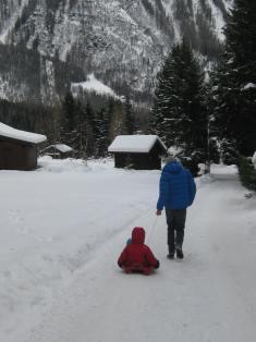Winter wonderland in Argentière © montblancfamilyfun.com