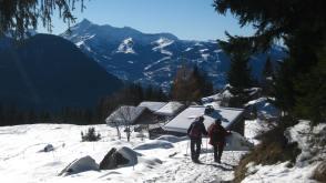 Boucle du Barmus snowshoe trail © montblancfamilyfun.com