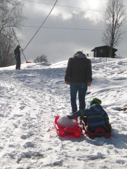 Cordon sledging © montblancfamilyfun.com