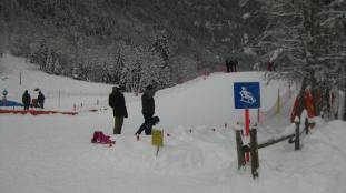Chalet Nordique sledging © montblancfamilyfun.com
