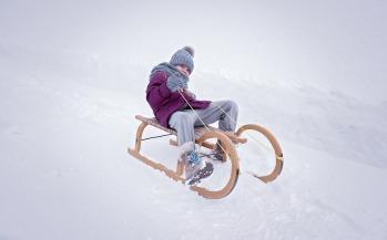 Old school wooden luge © Vallorcine Tourisme