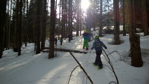 Combloux snowshoeing with Centre de la Nature Montagnarde montblancfamilyfun.com