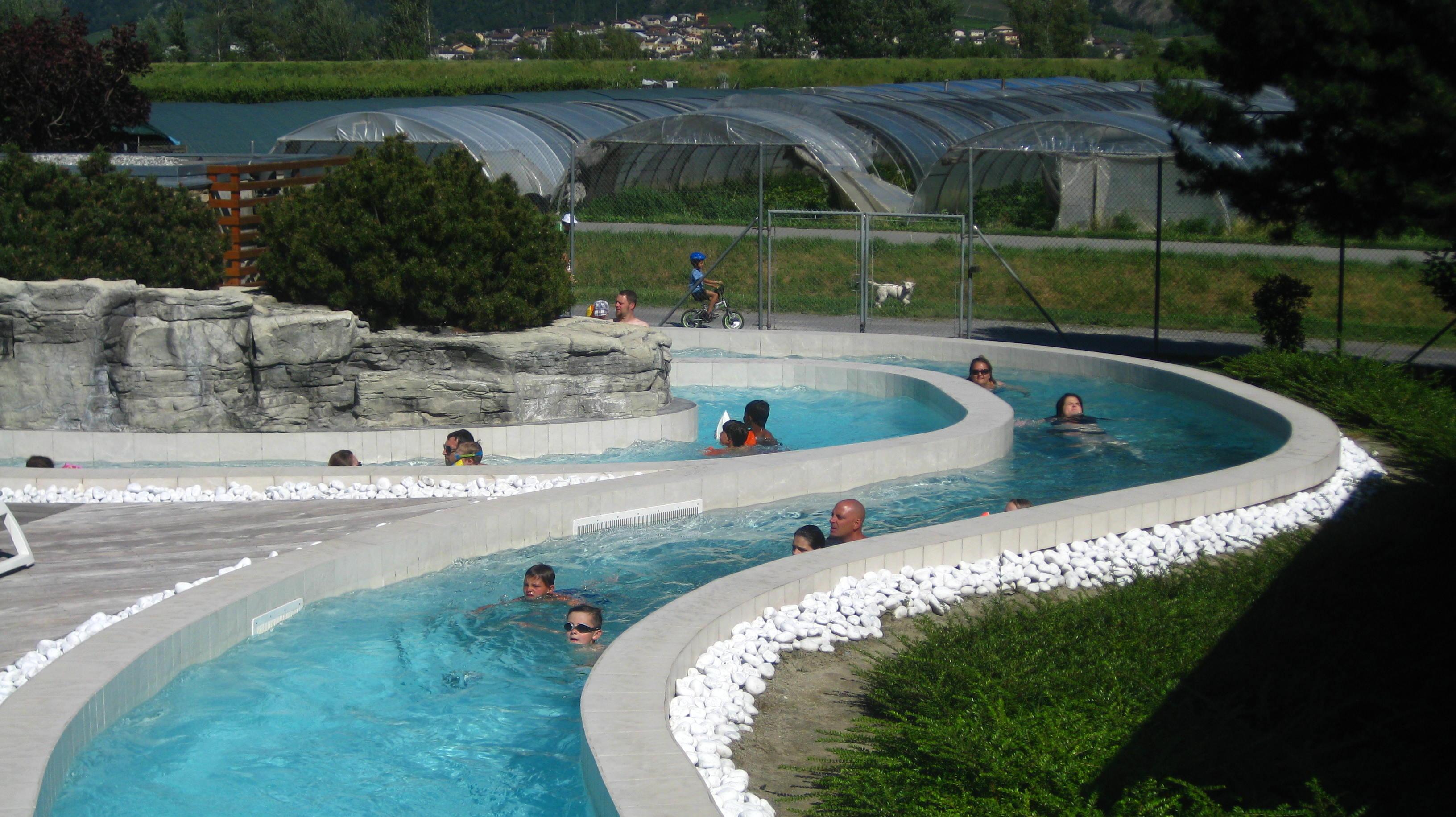 River Rapids At Les Bains De Saillon © Montblancfamilyfun.com