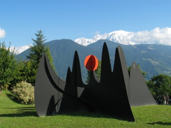 """Sun and Mountains"" by Calder © Passy Mont-Blanc Tourisme"