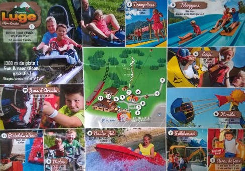 Plan of Chamonix Parc d'Attractions © Chamonix Parc d'Attractions