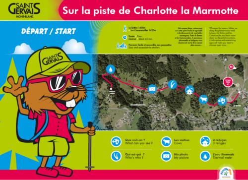 Sur la piste de Charlotte la Marmotte au Bettex © Saint-Gervais-les-Bains Tourisme
