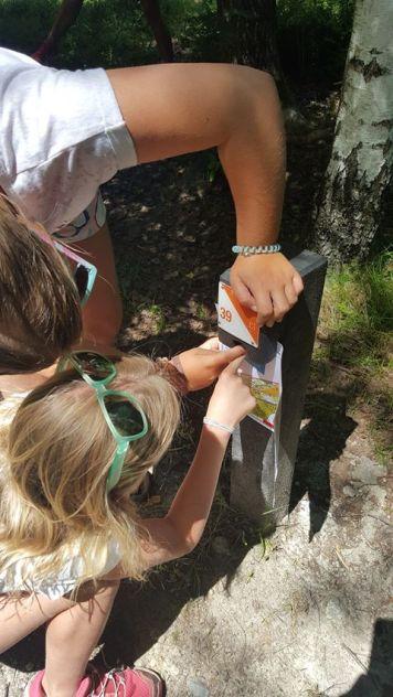 Parcours d'orientation Bois du Bouchet - stamping the map! © Baby-Cham