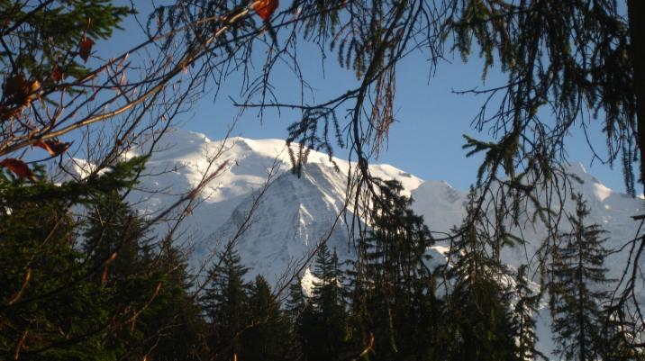 Mont-Blanc as seen from Lac Vert - autumn © montblancfamilyfun.com