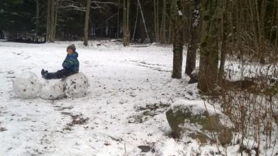Les Bois on a winter walk © montblancfamilyfun.com