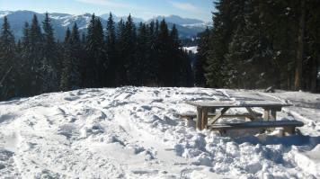 Picnic table in Combloux montblancfamilyfun.com