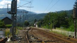 Railway line, Sallanches © montblancfamilyfun.com
