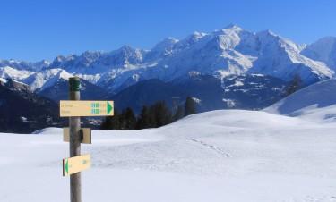 Refuge du Tornieux winter hike - sublime views of Mont-Blanc © montblancfamilyfun.com
