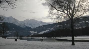 Lac de Passy in the snow © montblancfamilyfun.com
