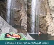 Cascade de l'Arpenaz - sushi picnic at © montblancfamilyfun.com