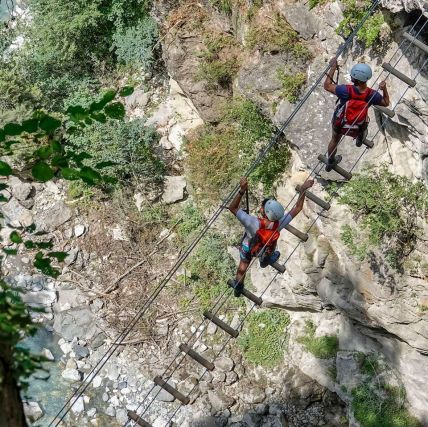 Via Ferrata du Parc Thermal © Compagnie des Guides Saint-Gervais & Les Contamines-Montjoie