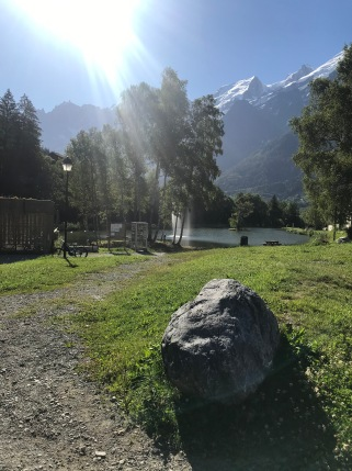 Lac des Chavants jet d'eau © montblancfamilyfun.com