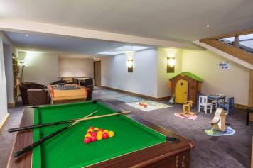Résidence & Spa Vallorcine - salle de jeux © Résidence & Spa Vallorcine