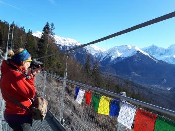 La Passerelle Himalayenne Plateau d'Assy - me in action! © G.Kruspir