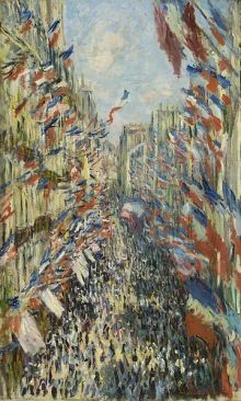 Claude Monet's © Rue Montorgueil in Paris. Celebration of June 30, 1878 Musée d'Orsay or Beaux Arts