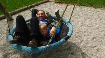 Adventure Playground in Combloux in late autumn © montblancfamilyfun.com