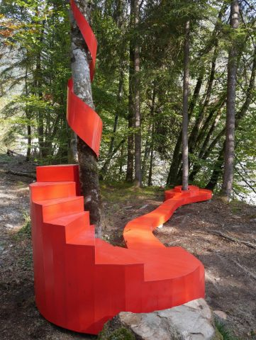 Parcours d'Art Contemporain, sentier «ART et NATURE » © Vallée du Giffre