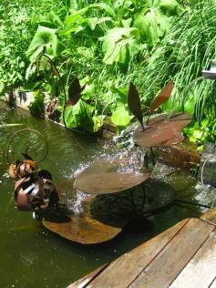 Le Jardin des Cimes - water feature © montblancfamilyfun