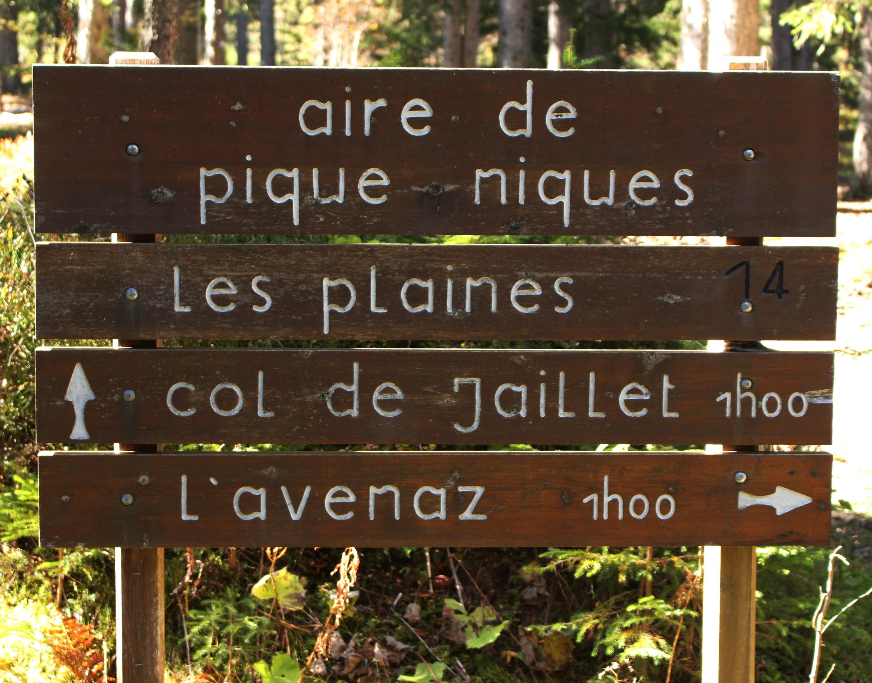 Aire de pique-niques Les Plaines Le Sentier Découverte