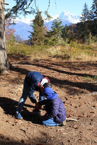 Aire de pique-nique Les Plaines - autumn © montblancfamilyfun.com