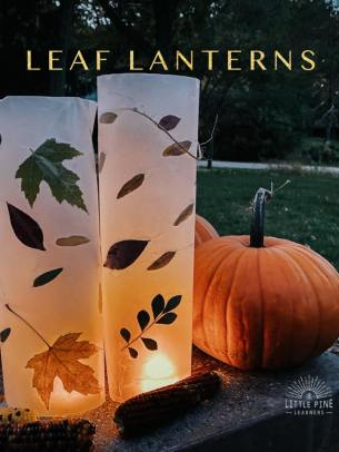 Leaf lanterns © Little Pine Learners