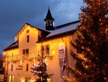 Megève village in wintertime © montblancfamilyfun.com