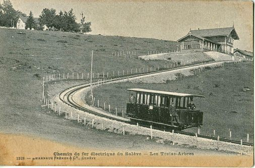 Chemin de fer du Salève - station Les Treize Arbres © Wikipedia